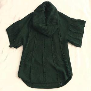 BcbgMaxAzria Short Sleeve Cowl Neck Sweater